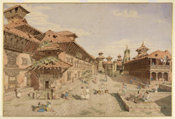 S. front of the Durbar, or Royal Palace, Bhatgaon (Nepal). March 1853